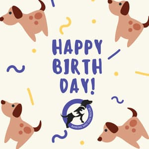 Birthday ecard dog