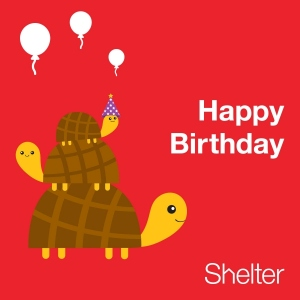 Birthday ecard Shelter