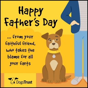 Fathers day ecard Dogs Trust