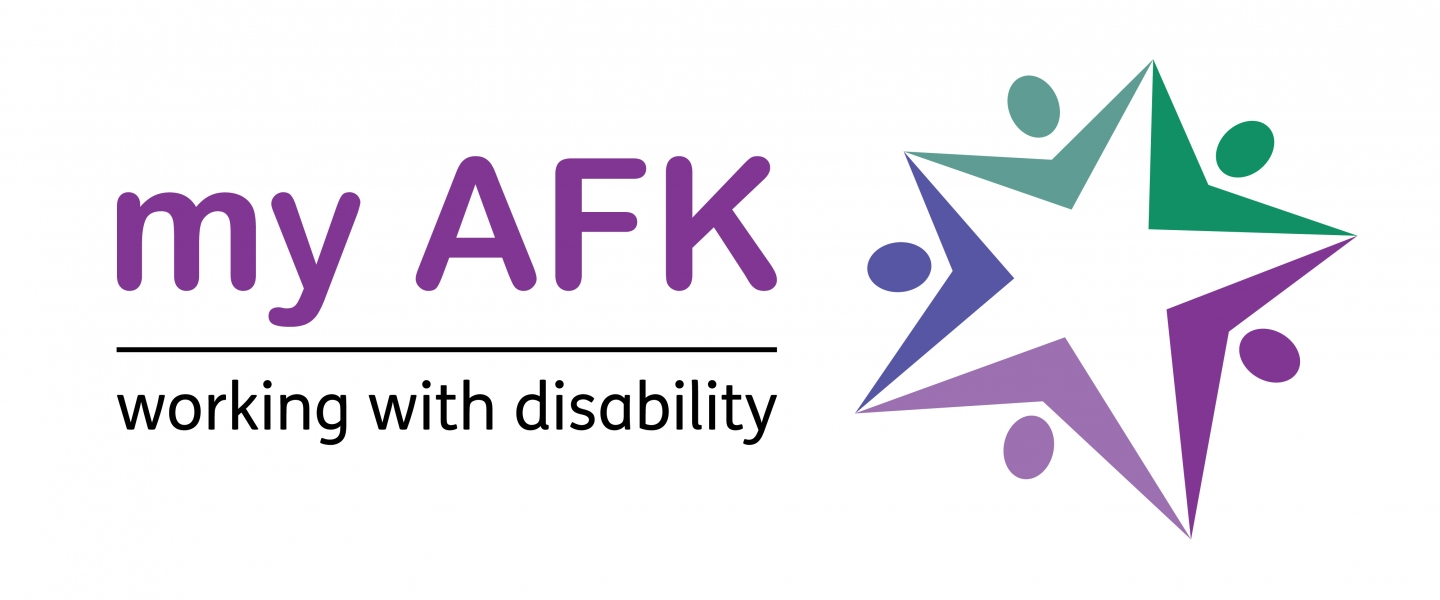 my AFK - working with disability eCards